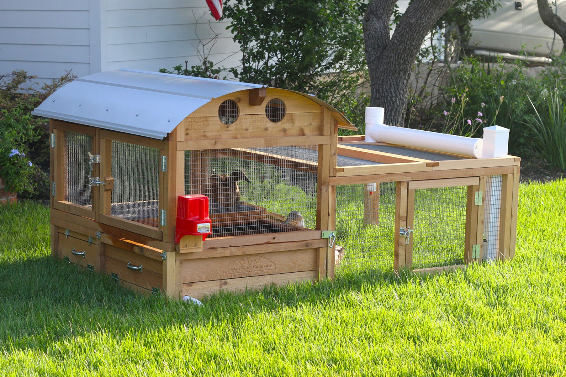 Duck Coop Front Right View